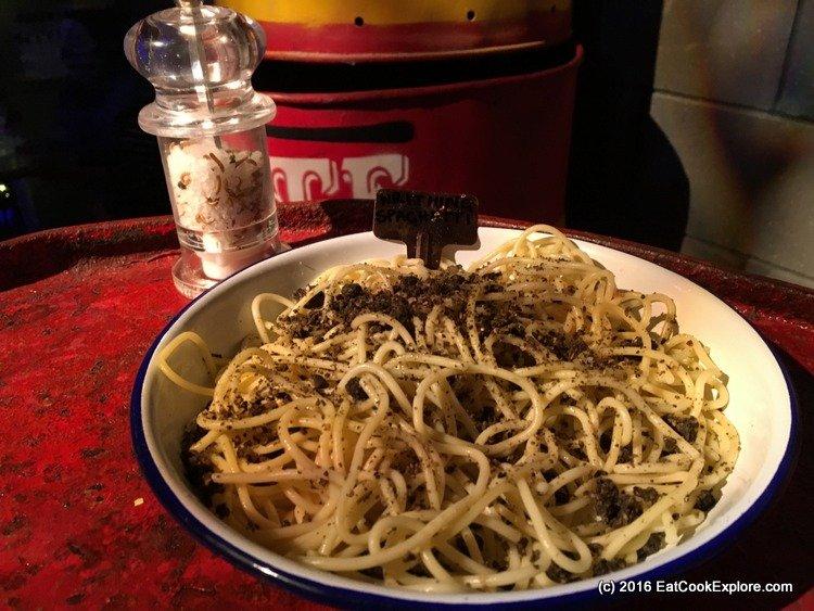 Wormy spaghetti