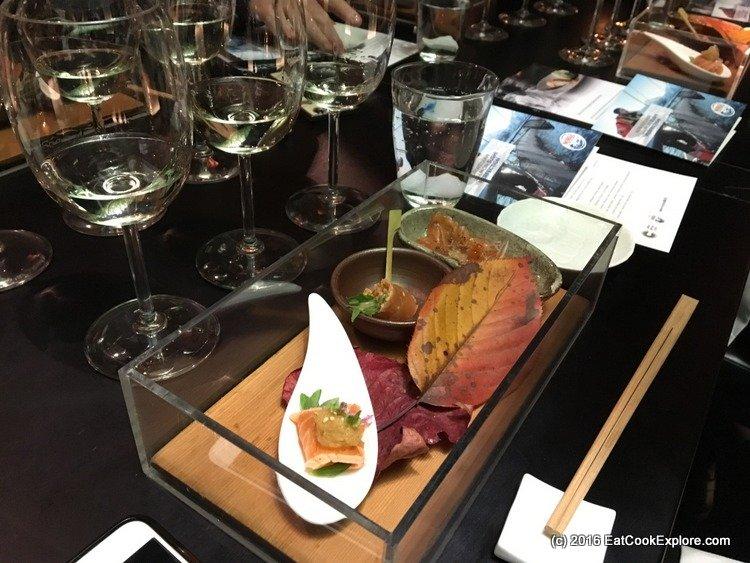 A Trio - Aburi Salmon Yuba Salad, Salmon Usuzukuri and Salmon Tataki Oroshi Daikon