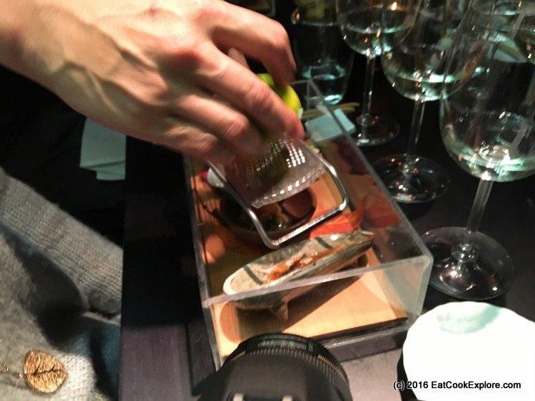 a grating of fine yuzu zest