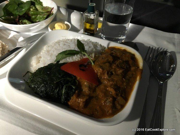 emirates-business-class Dahi Gosht Lamb Curry