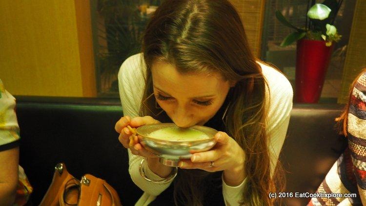 Salmon soup from Hideki's home region