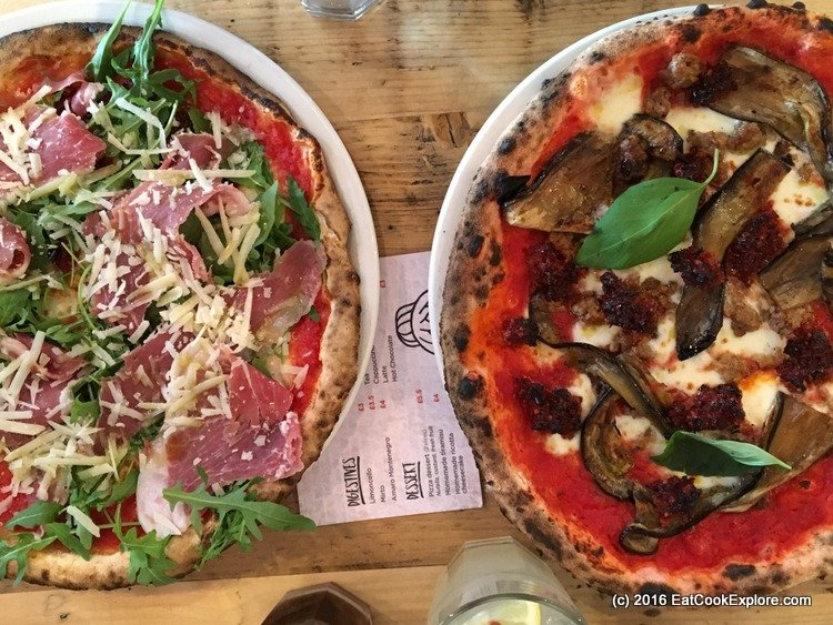 zia-lucia Pink pizza and gluten free pizza