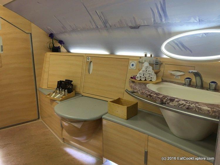 Emirates First Class Shower Spa