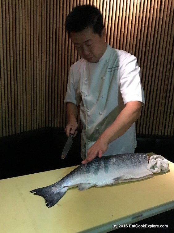 Filleting Salmon Japanese style