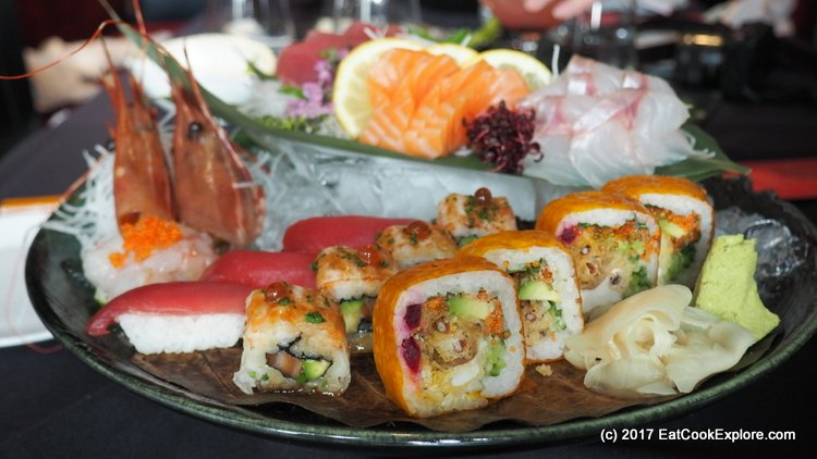 Sensational sushi and sashimi platters