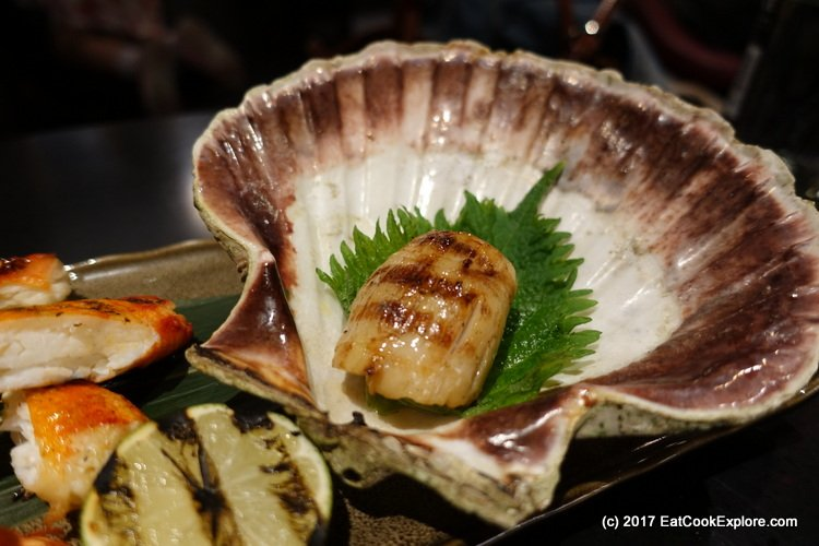 Chai Wu Harrods Grilled Scallops