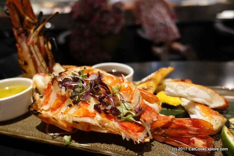 Chai Wu Harrods Grilled Tiger Prawns and Alaskan Crab Legs