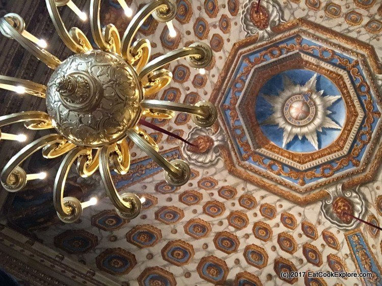 Look up - the elaborate ceilings at Kensington Palace