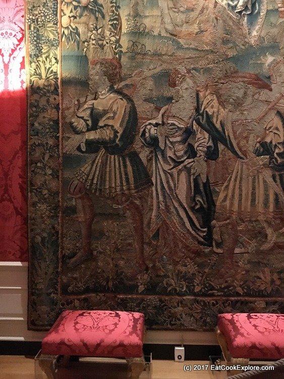 Elaborate wall tapestries