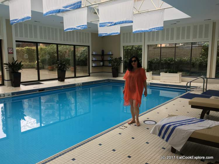 Seafolly orange cover up and Miracle Suit from Simply Beach