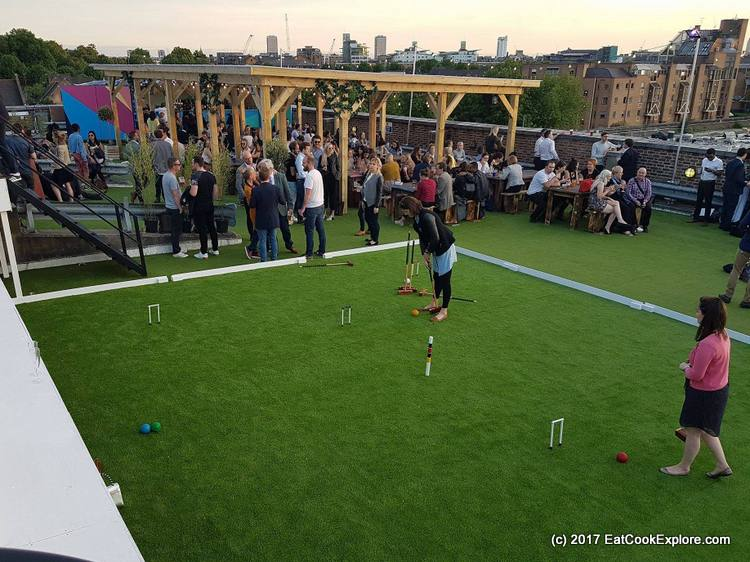 Sklylight Rooftop Tobacco Dock Croquet