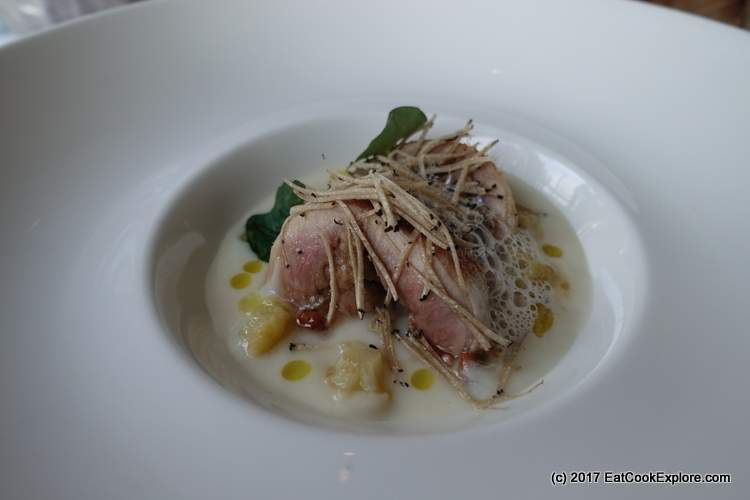 Local Quail, summer truffles and girolles The River Room Galgorm Resort and Spa