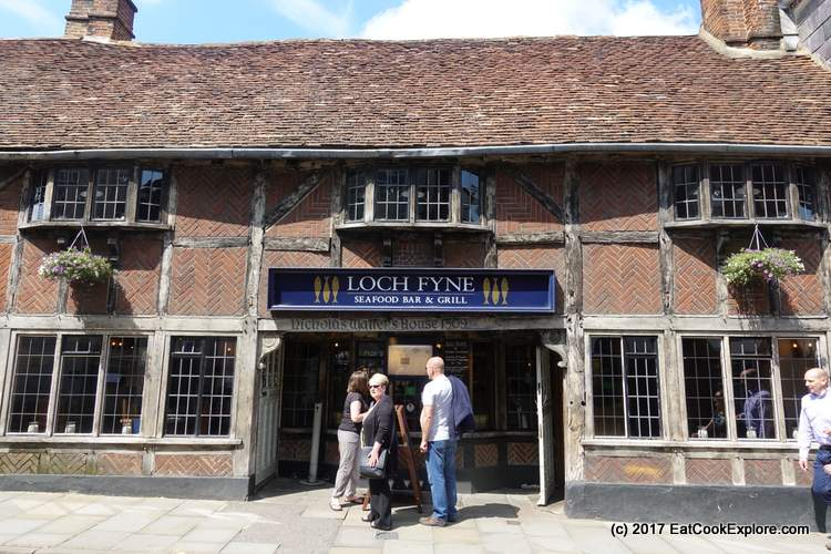 Shown here because it is housed in this original timber framed building