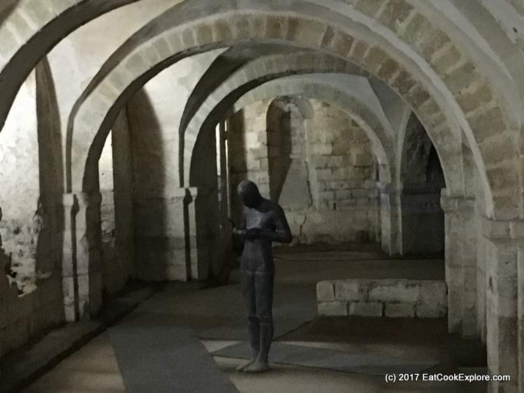 Antony Gormley.'s Sound II in the crypt Winchester Cathedral
