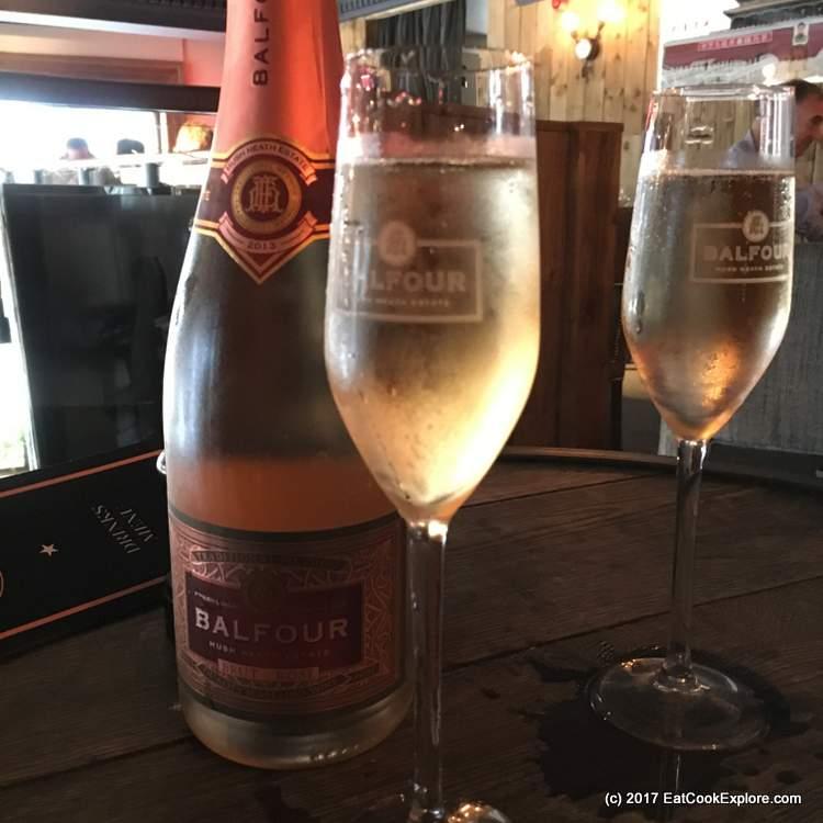 St Barts Smithfield Hush Heath Balfour Brut Rosé sparkling wine