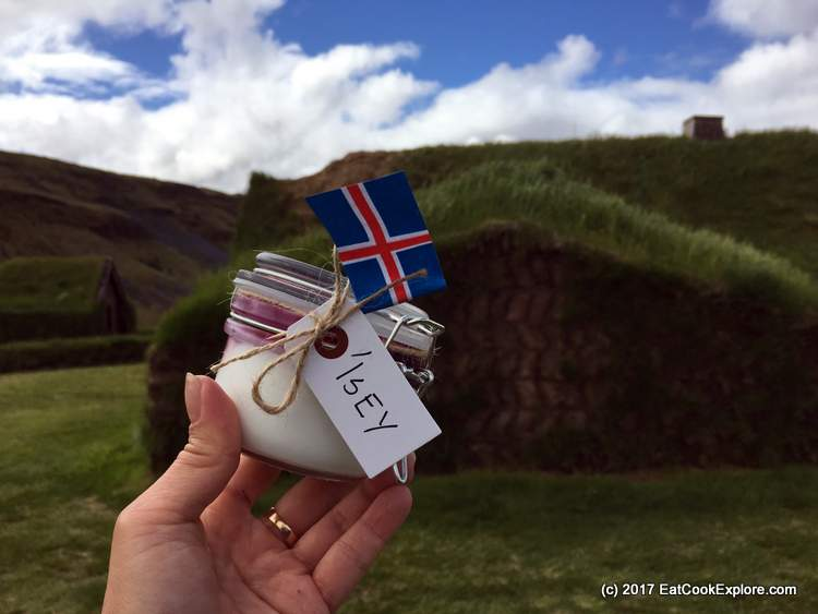 Isey Skyr On the turf roof of a farmhouse at Commonwealth Farm in Iceland