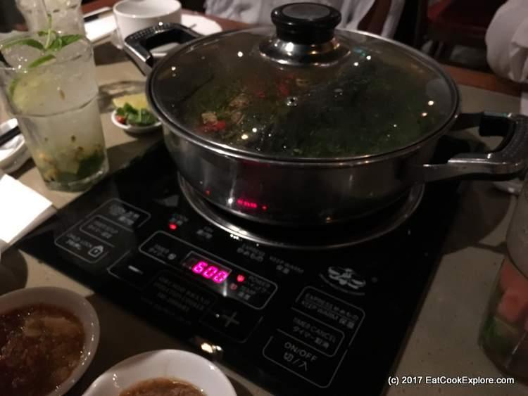 Table top hob with temperature controls at Hot Pot
