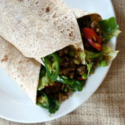 Quick and Easy Spicy Minced Lamb Wraps