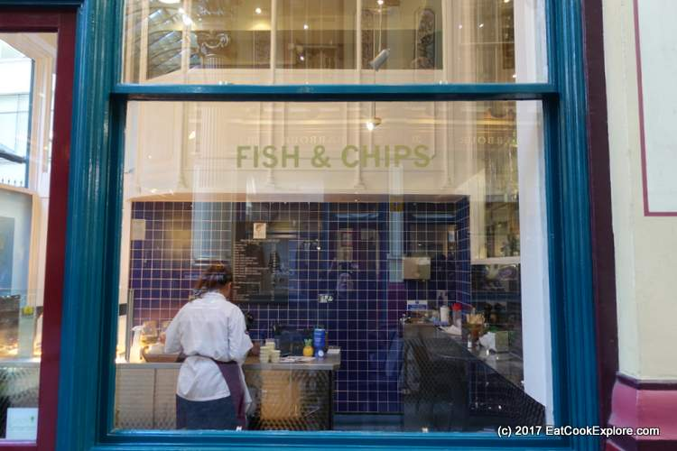 Chamberlain Fish and Chips Kiosk Leadenhall Market