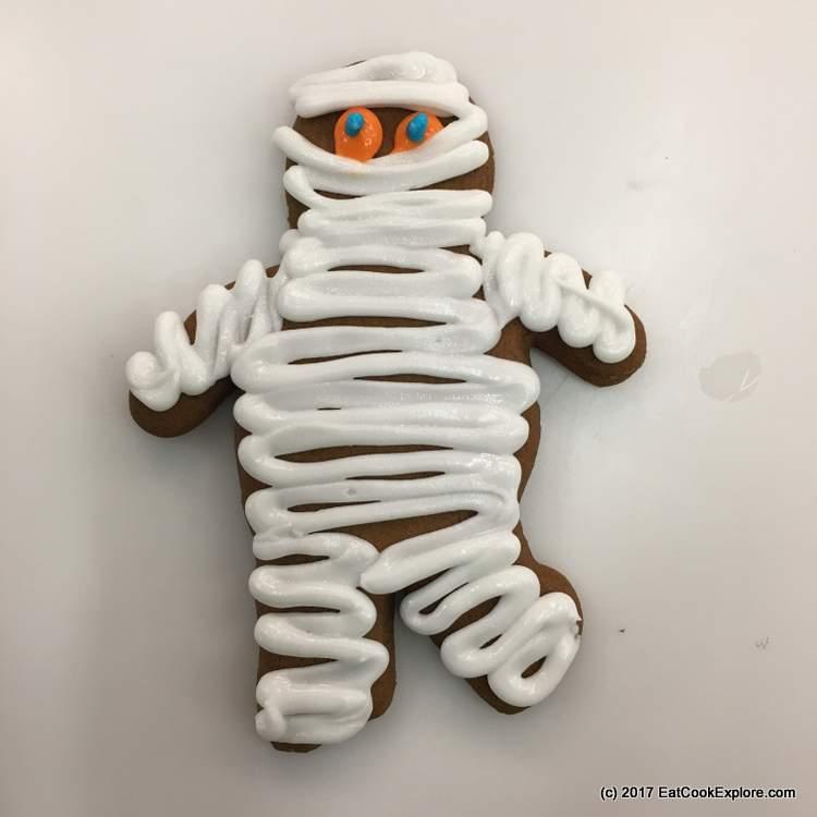 Konditor and cook Halloween cookies Zombie Gingerbread cookies