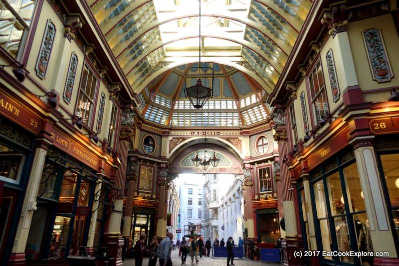 Leadenhall Market London Harry Potter film location Diagon Alley