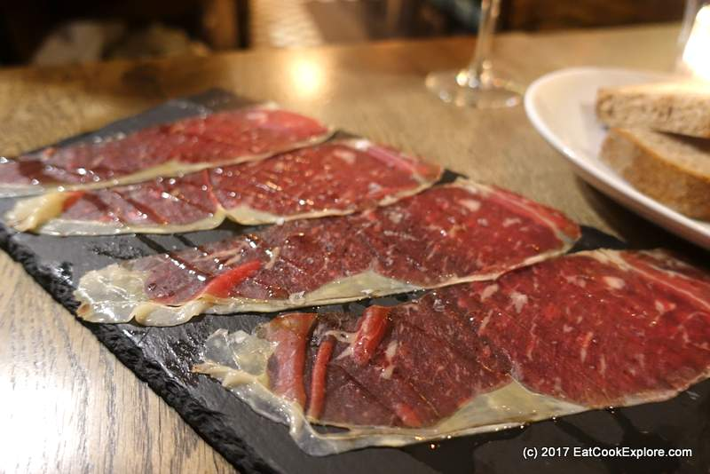 Carpaccio from Entrecote using beef matured for 180 days
