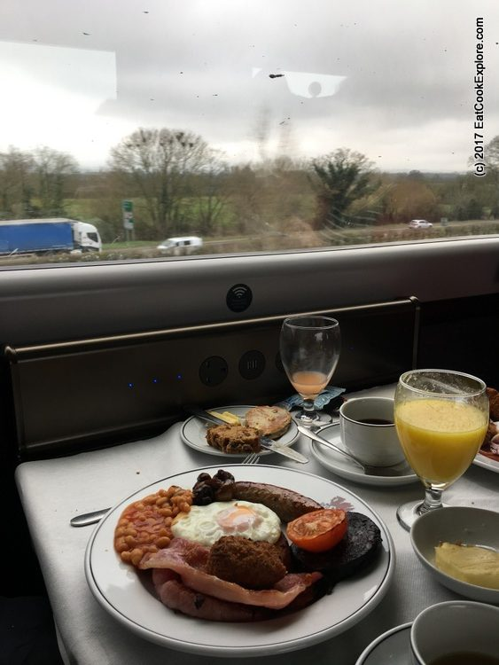 The Great Westerner Breakfast in the Pullman Dining cars