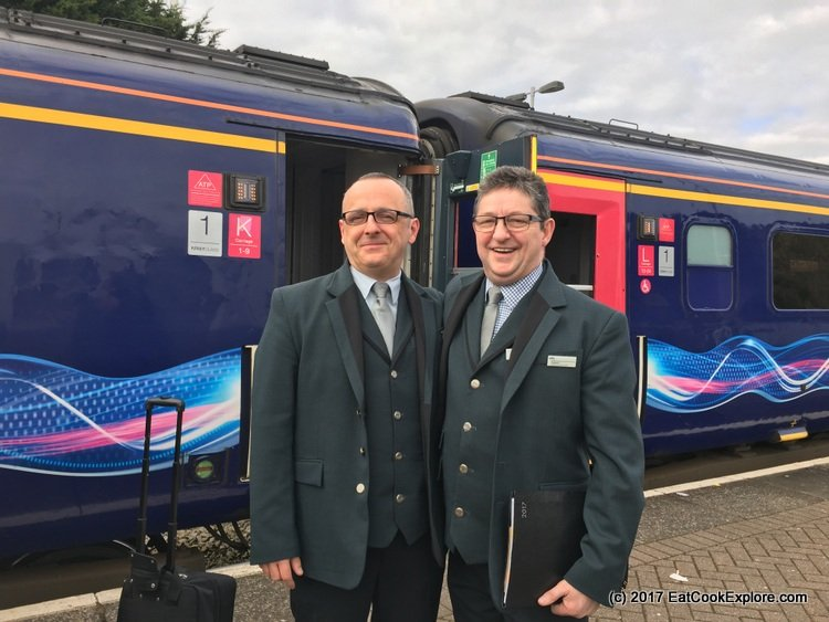 Our happy smiling Welsh hosts on the Pullman