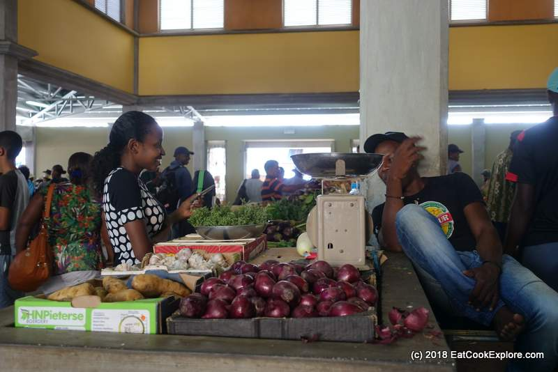 Market day at Port Marthurin- an oportunity to flirt