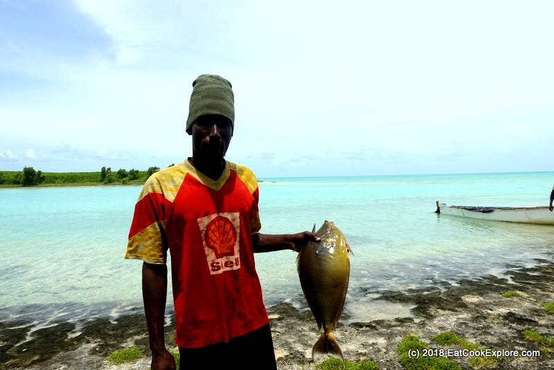 Fisherman with a Unicorn Fish Isle de Chat