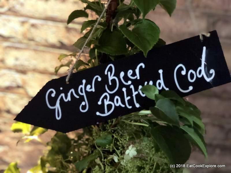 Belvoir ginger beer battered cod