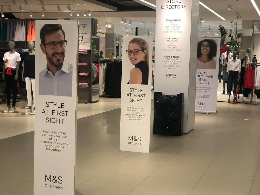 M & S Opticians Westfield London