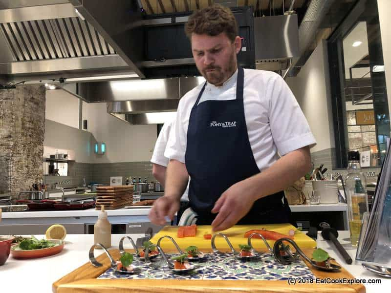 Visit Zurich with Josh Eggleton making gin cured lake trout