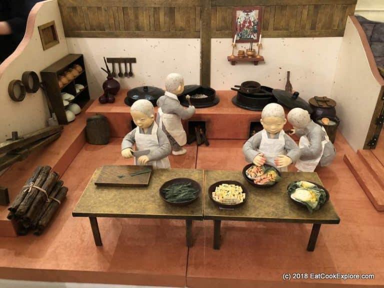 A typical Korean Temple Kitchen