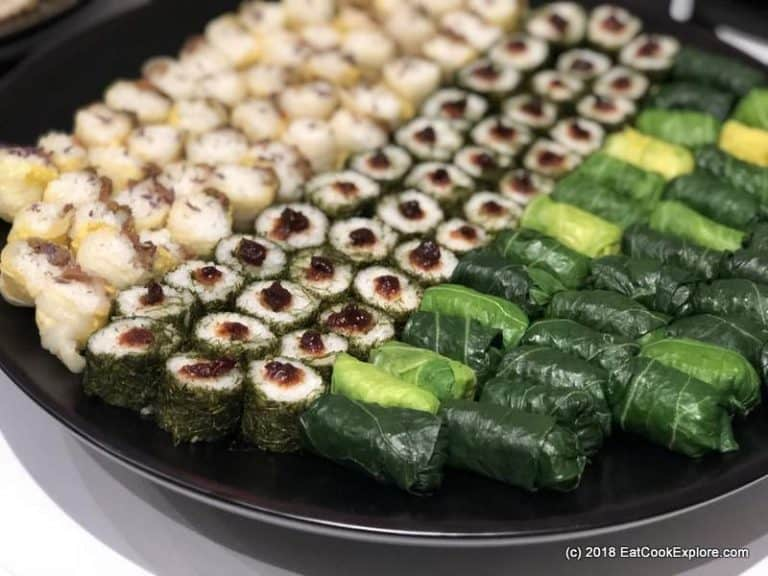 Korean rice wrapped in leaves