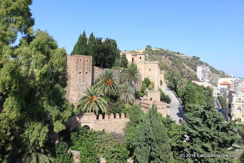 Malaga Alcazba Citadel and Castillo de Gibralfaro