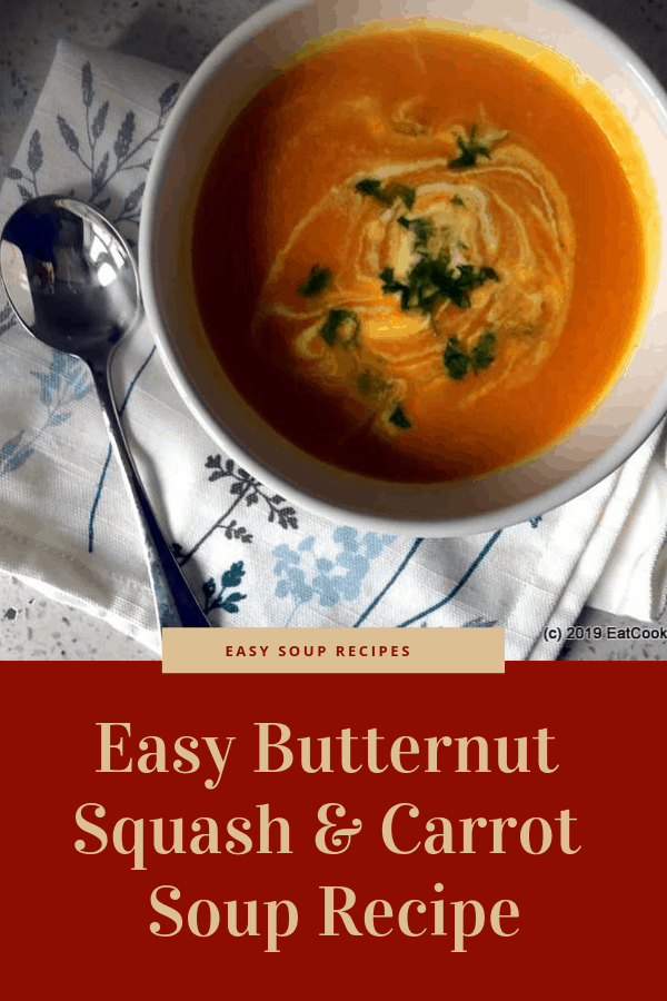 A Very easy Butternut Squash & Carrot Soup Recipe made with a Digital Soup Maker