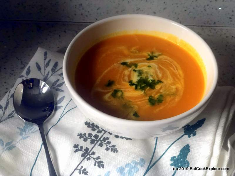 Easy Butternut squash soup recipe made in a digital soup maker