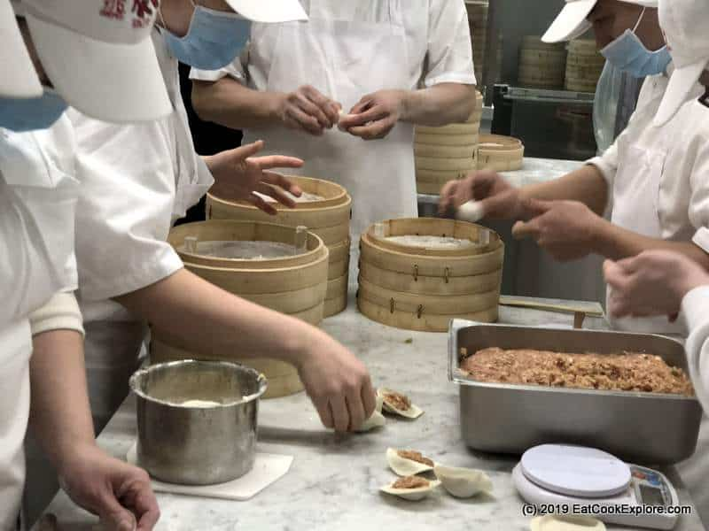Din Tai Fung London How they make xiao long bao