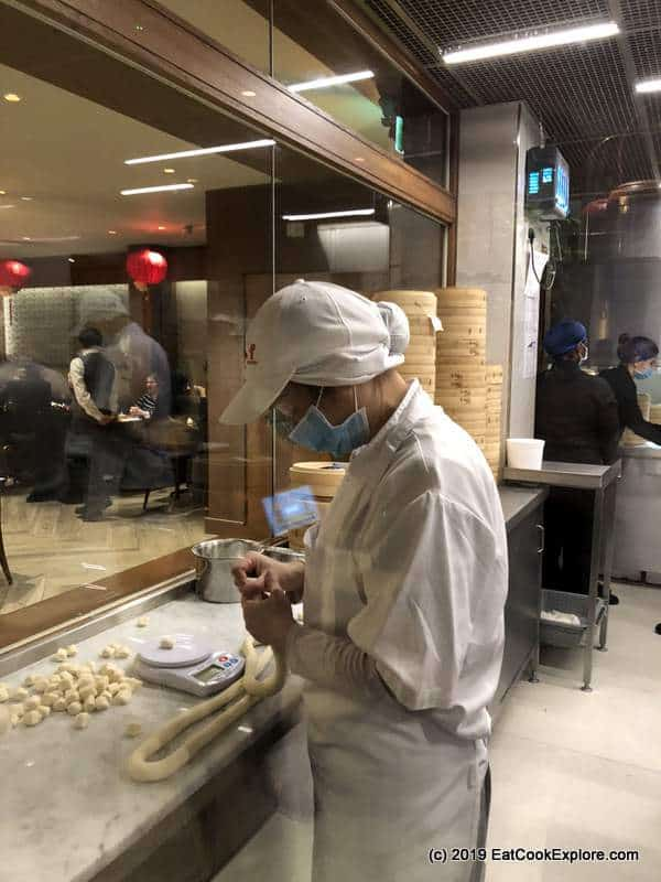 Din Tai Fung London How they make ziao long bao