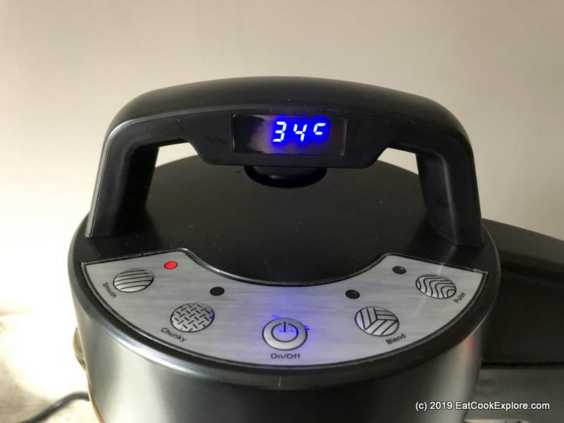 Vonshef Digital Soupmaker Temperature display