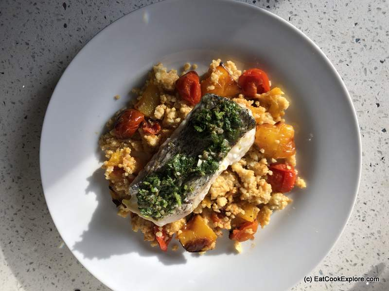 Mindful Chef Low Carb Hake with Salsa Verde, Millet & tomato