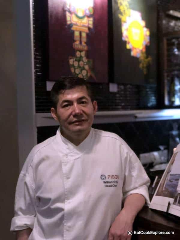 Pisqu Peruvian Chef William Ortiz