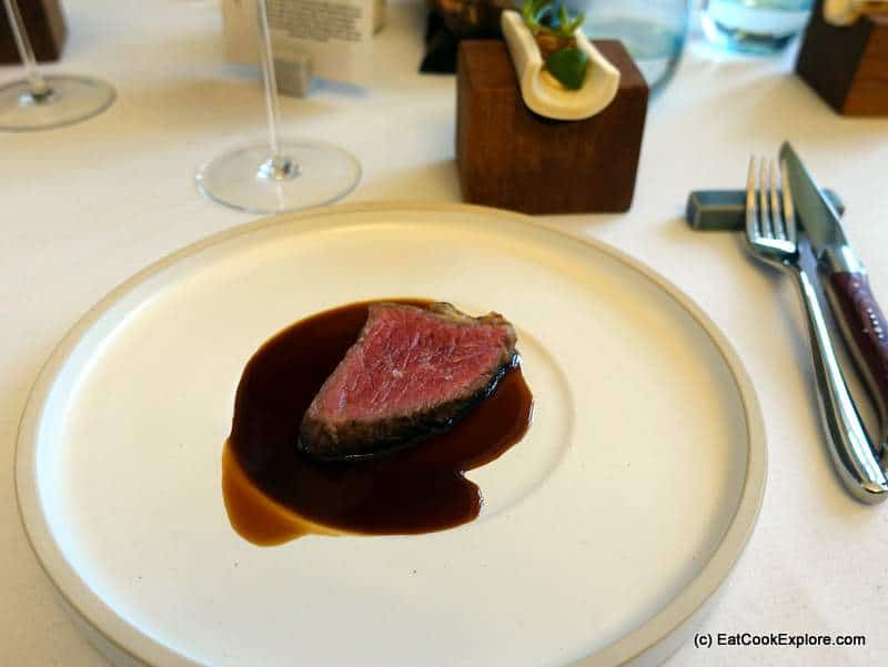 Interlude Restaurant at Leondarslee Lakes 72 day aged beef