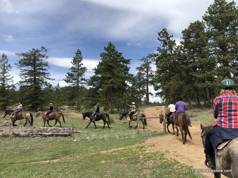 horse riding on Sundance Trail Dude Ranch