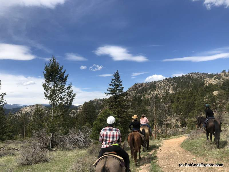Horse riding at Sundance Trail Dude Ranch Colorado