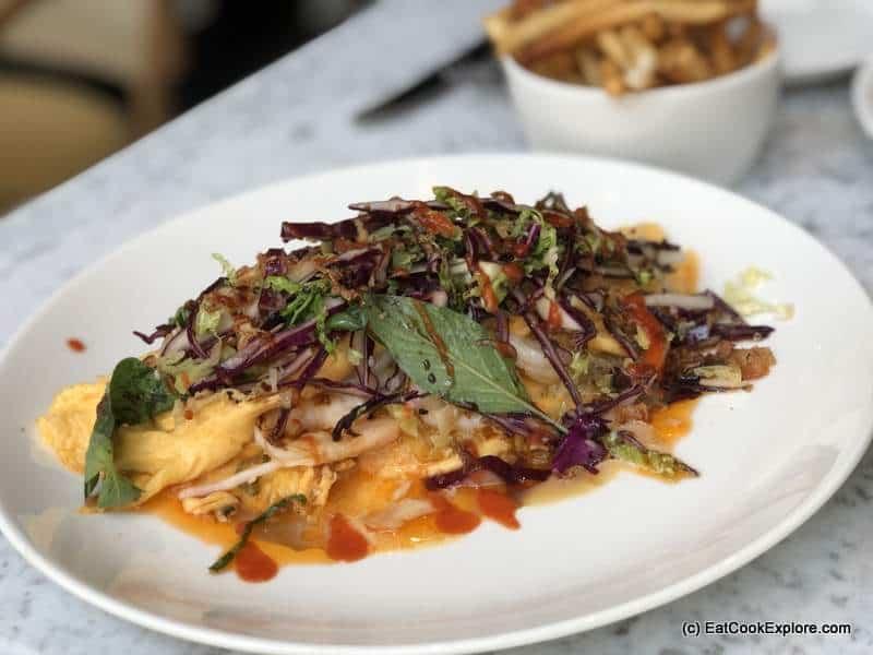 king prawn omelette Liv Belgravia